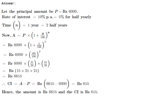 Compound Interest RS Aggarwal Class 8 Maths Solutions CCE Test Paper Q3.1