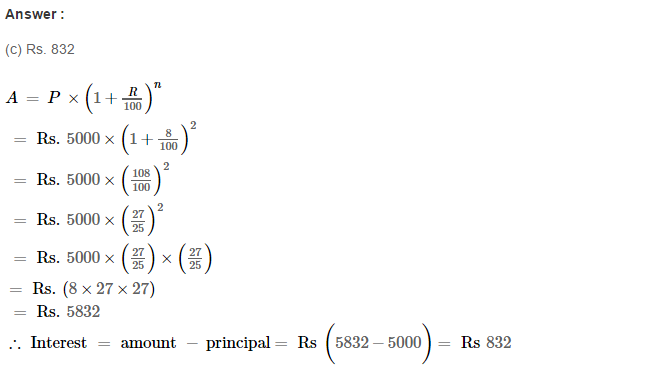 Compound Interest RS Aggarwal Class 8 Maths Solutions Ex 11D 1.1
