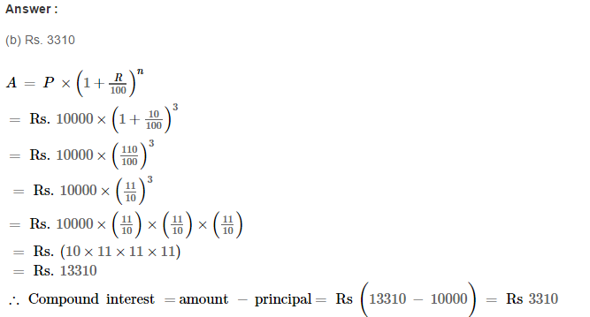 Compound Interest RS Aggarwal Class 8 Maths Solutions Ex 11D 2.1