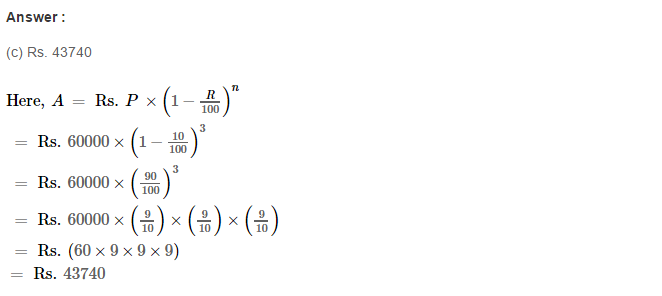 Compound Interest RS Aggarwal Class 8 Maths Solutions Ex 11D 9.1