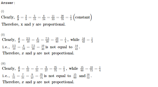 Direct and Inverse Proportions RS Aggarwal Class 8 Maths Solutions CCE Test Paper 1.1