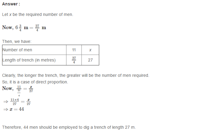 Direct and Inverse Proportions RS Aggarwal Class 8 Maths Solutions CCE Test Paper 14.1