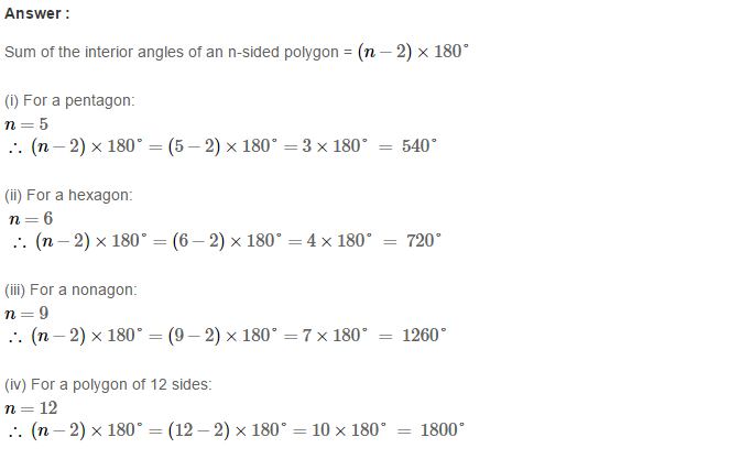 Polygons RS Aggarwal Class 8 Maths Solutions Ex 14A 5.1