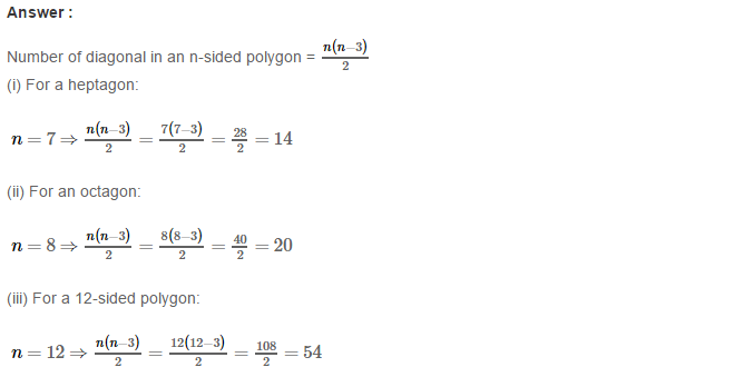 Polygons RS Aggarwal Class 8 Maths Solutions Ex 14A 6.1