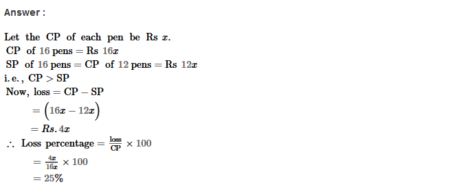 Profit and Loss RS Aggarwal Class 8 Maths Solutions CCE Test Paper 2.1
