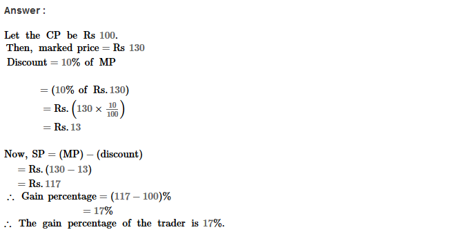 Profit and Loss RS Aggarwal Class 8 Maths Solutions CCE Test Paper 4.1