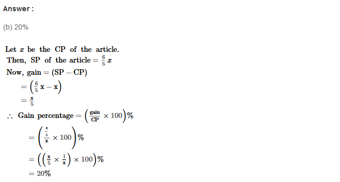 Profit and Loss RS Aggarwal Class 8 Maths Solutions CCE Test Paper 9.1
