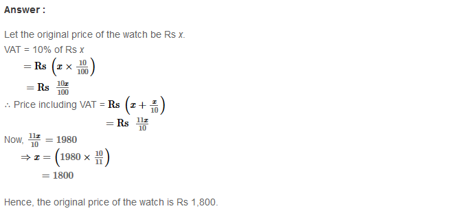Profit and Loss RS Aggarwal Class 8 Maths Solutions Ex 10C 3.1
