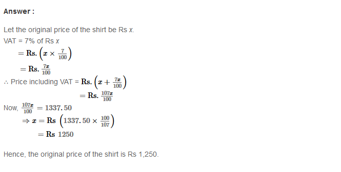 Profit and Loss RS Aggarwal Class 8 Maths Solutions Ex 10C 4.1
