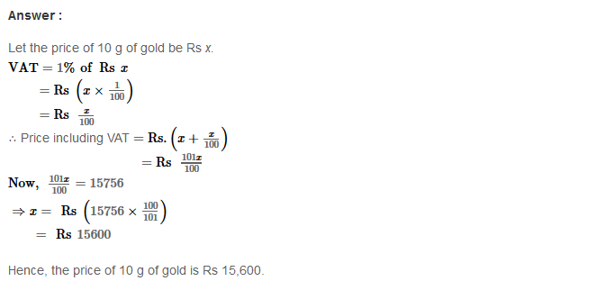 Profit and Loss RS Aggarwal Class 8 Maths Solutions Ex 10C 5.1