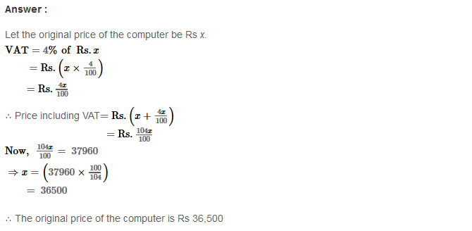 Profit and Loss RS Aggarwal Class 8 Maths Solutions Ex 10C 6.1