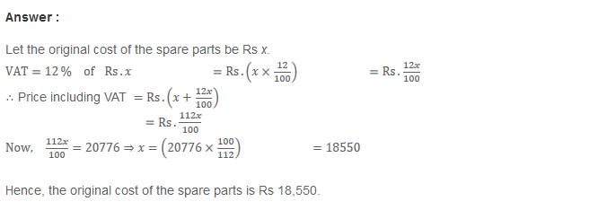 Profit and Loss RS Aggarwal Class 8 Maths Solutions Ex 10C 7.1