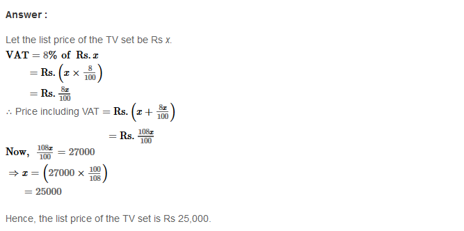 Profit and Loss RS Aggarwal Class 8 Maths Solutions Ex 10C 8.1