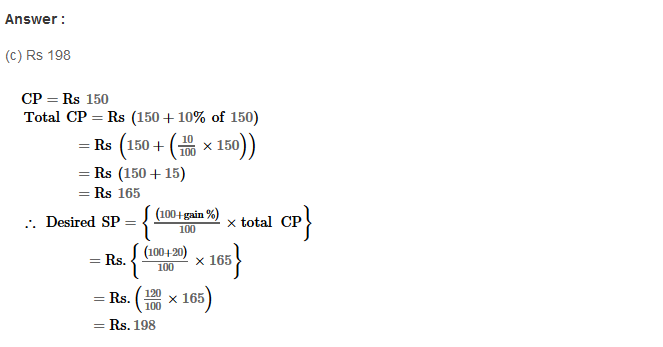 Profit and Loss RS Aggarwal Class 8 Maths Solutions Ex 10D 17.1