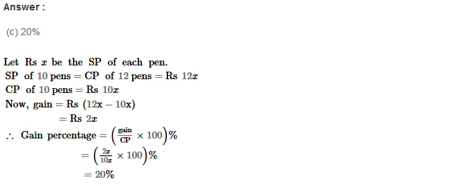 Profit and Loss RS Aggarwal Class 8 Maths Solutions Ex 10D 7.1