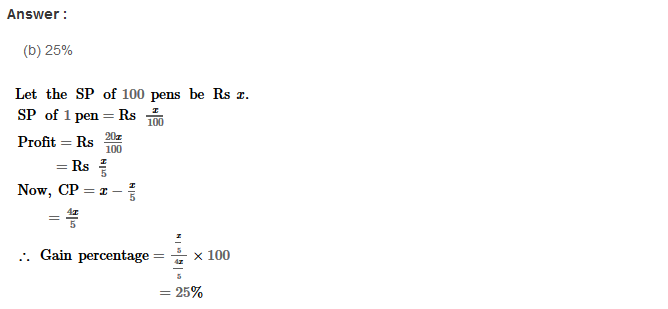 Profit and Loss RS Aggarwal Class 8 Maths Solutions Ex 10D 8.1
