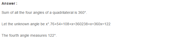 Quadrilaterals RS Aggarwal Class 8 Maths Solutions 4.1