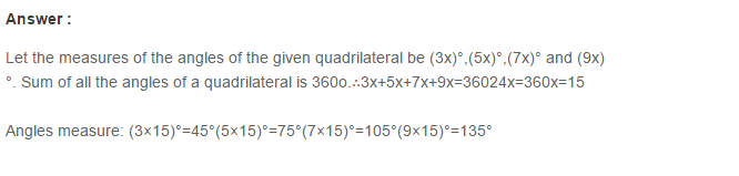 Quadrilaterals RS Aggarwal Class 8 Maths Solutions 5.1