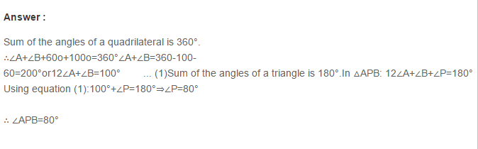 Quadrilaterals RS Aggarwal Class 8 Maths Solutions 9.1