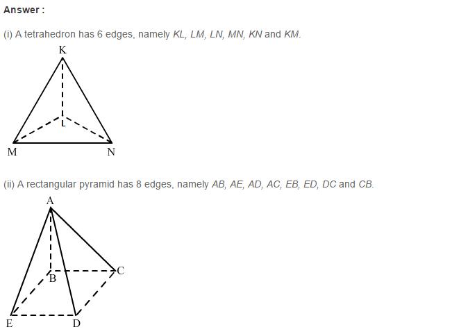 Three Dimensional Shapes RS Aggarwal Class 8 Maths Solutions Ex 19A 2.1