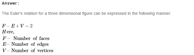 Three Dimensional Shapes RS Aggarwal Class 8 Maths Solutions Ex 19B 1.1