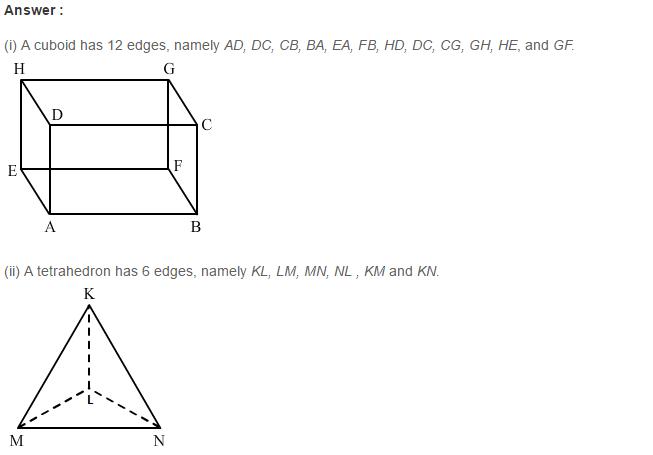 Three Dimensional Shapes RS Aggarwal Class 8 Maths Solutions Ex 19B 2.1