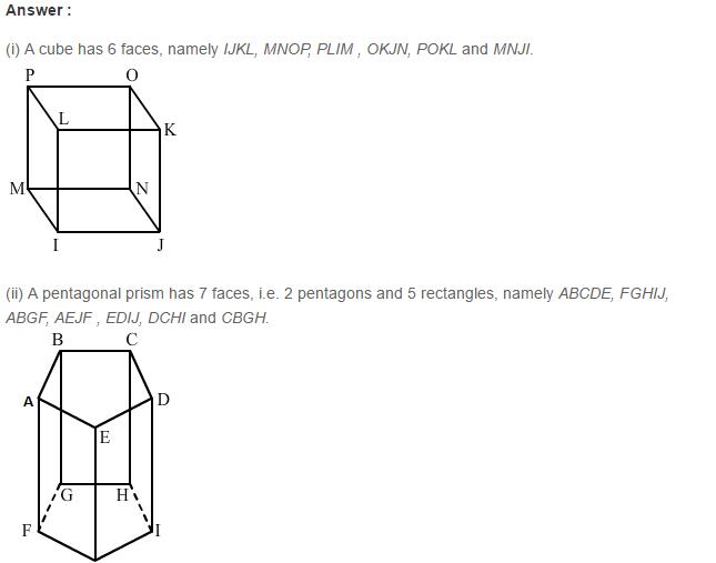 Three Dimensional Shapes RS Aggarwal Class 8 Maths Solutions Ex 19B 3.1