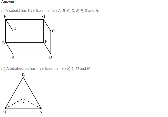 Three Dimensional Shapes RS Aggarwal Class 8 Maths Solutions Ex 19B 4.1