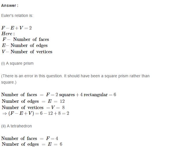 Three Dimensional Shapes RS Aggarwal Class 8 Maths Solutions Ex 19B 5.1