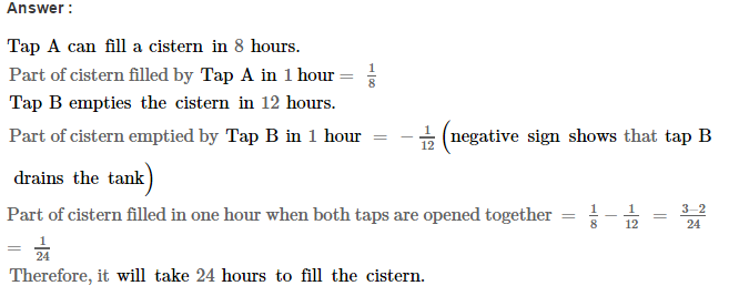 Time and Work RS Aggarwal Class 8 Maths Solutions CCE Test Paper 3.1