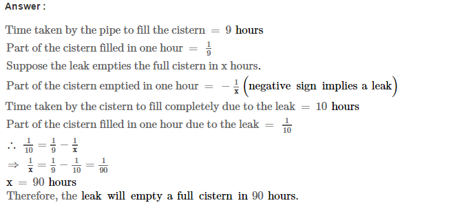 Time and Work RS Aggarwal Class 8 Maths Solutions CCE Test Paper 5.1