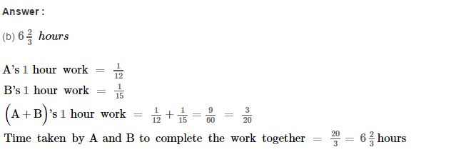 Time and Work RS Aggarwal Class 8 Maths Solutions CCE Test Paper 7.1