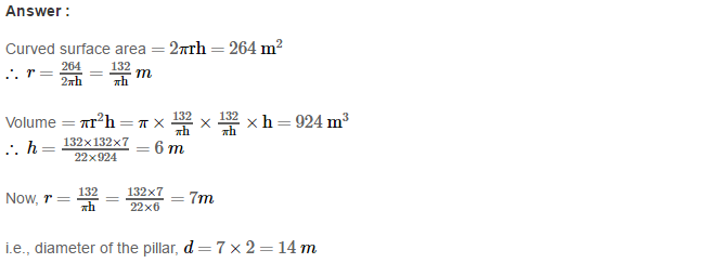 Volume and Surface Area of Solids RS Aggarwal Class 8 Solutions CCE Test Paper 6.1