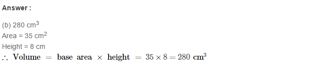 Volume and Surface Area of Solids RS Aggarwal Class 8 Solutions CCE Test Paper 8.1