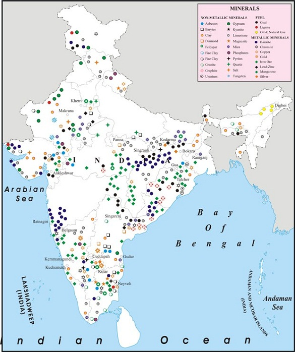 Minerals in india icse solutions for class 10 geography for Minerals found in soil
