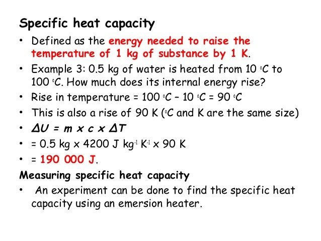 how to find heat capacity given temperature change
