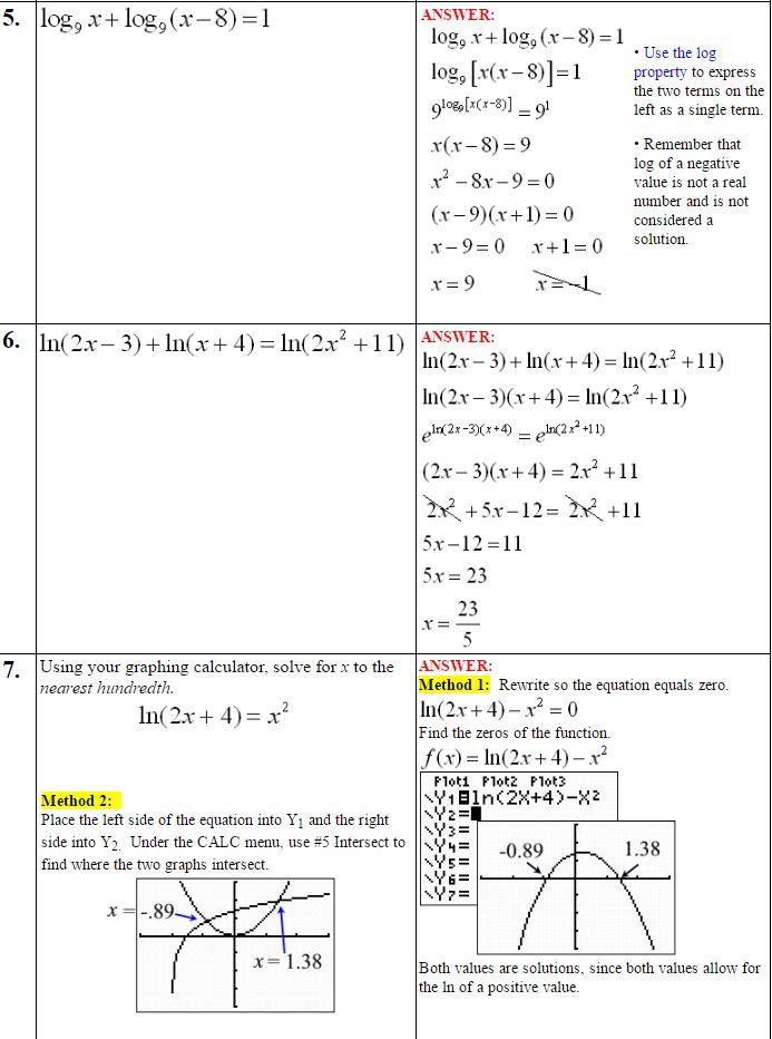 Logarithmic Equations 4