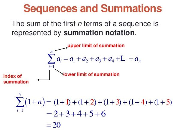 sigma notation examples and solutions pdf