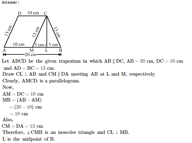 Area of Trapezium and Polygon RS Aggarwal Class 8 Maths Solutions Ex 18A 12.1