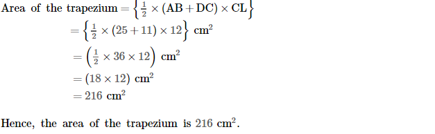 Area of Trapezium and Polygon RS Aggarwal Class 8 Maths Solutions Ex 18A 13.3