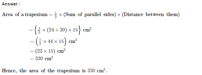 Area of Trapezium and Polygon RS Aggarwal Class 8 Maths Solutions Ex 18A 2.1
