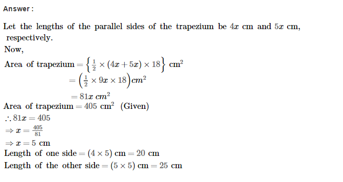 Area of Trapezium and Polygon RS Aggarwal Class 8 Maths Solutions Ex 18A 7.1