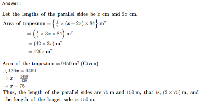 Area of Trapezium and Polygon RS Aggarwal Class 8 Maths Solutions Ex 18A 9.1