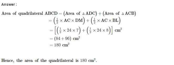 Area of Trapezium and Polygon RS Aggarwal Class 8 Maths Solutions Ex 18B 2.1