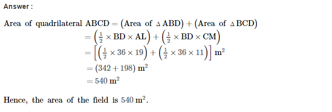 Area of Trapezium and Polygon RS Aggarwal Class 8 Maths Solutions Ex 18B 3.1