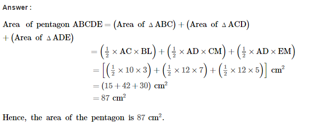 Area of Trapezium and Polygon RS Aggarwal Class 8 Maths Solutions Ex 18B 6.1