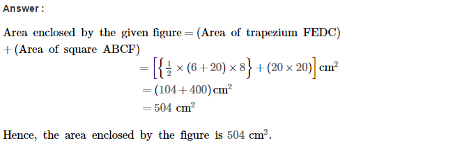 Area of Trapezium and Polygon RS Aggarwal Class 8 Maths Solutions Ex 18B 7.1