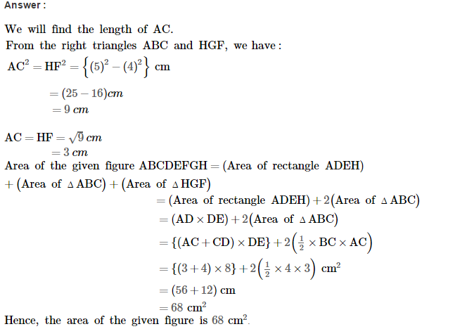 Area of Trapezium and Polygon RS Aggarwal Class 8 Maths Solutions Ex 18B 8.1