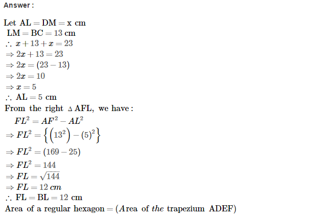 Area of Trapezium and Polygon RS Aggarwal Class 8 Maths Solutions Ex 18B 9.1