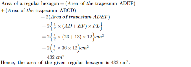 Area of Trapezium and Polygon RS Aggarwal Class 8 Maths Solutions Ex 18B 9.2